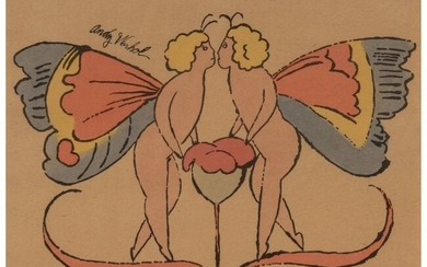 Andy Warhol (1928-1987) Kissing Angels, from In