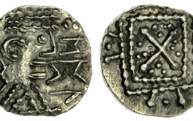 Anglo-Saxon England, Secondary Series (710-760), Series R4/type 51 Mule, Sceat, P1e Variety, Epa