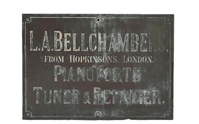 Antique Brass Sign, Pianoforte Tuner and Repairer.