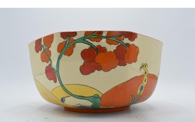 Bizarre by Clarice Cliff octagonal bowl decorated in the 'Br...