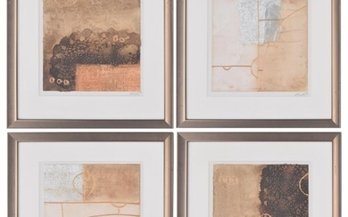 Contemporary School (20th/21st century) - set of four collag...