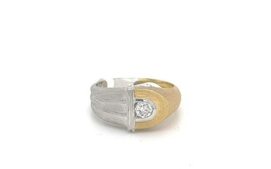 Diamond Ring over Two Tone