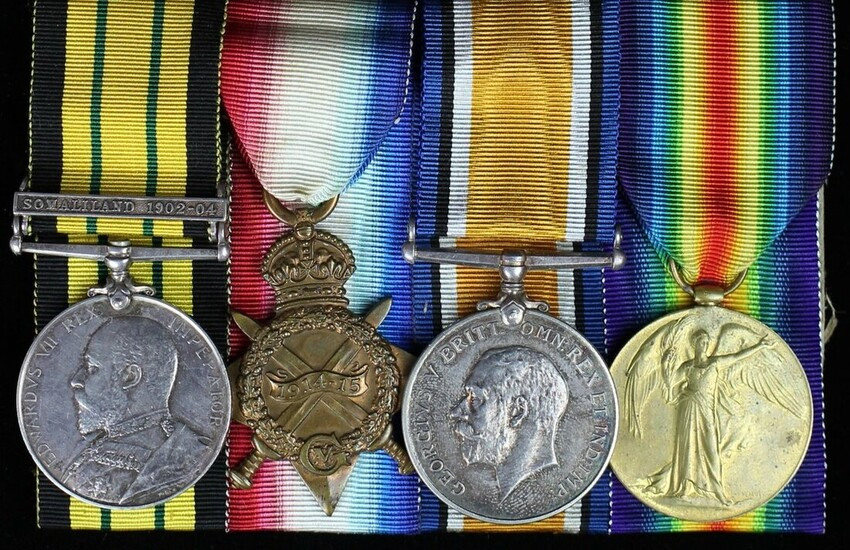 Four: Private Johnson, Royal Marine Light Infantry Africa General Service 1902-56, 1 clasp, So...