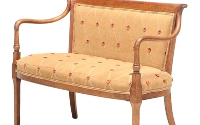 French Directoire Style Beech Settee