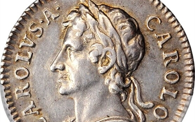 GREAT BRITAIN. Silver Farthing Pattern, 1665. Charles II. PCGS AU-55 Gold Shield.