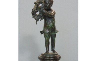 Good quality 19th century patinated bronze figure of a stand...