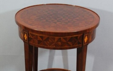 Gueridon - Louis XVI Style - Boxwood, Kingwood, Rosewood - late 19th / early 20th century