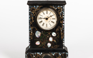Iron and Mother-of-pearl-inlaid Mantel Clock