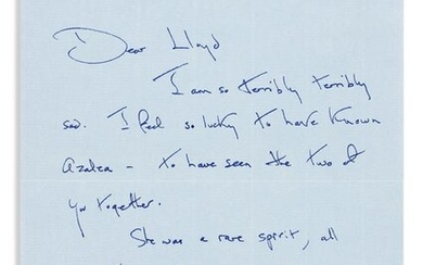 KENNEDY, JACQUELINE. Group of 5 letters, each Signed