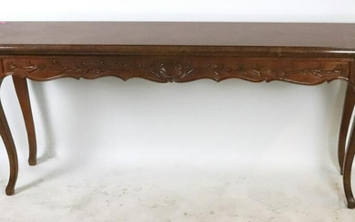 Mahogany Console Table, Vine and Shell Carving