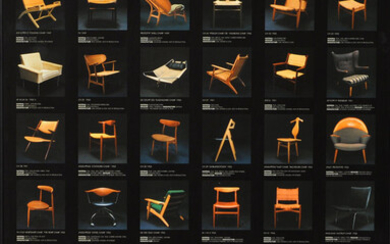 POSTER, offset printing, Wegner, Limited, For the exhibition: The chair according to Hans J. Wegner.