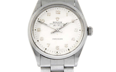 ROLEX - a stainless steel Oyster Perpetual Air-King Precision, 34mm.