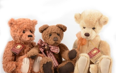Three Charlie Teddy Bears, Remember, Griswald, Wridley.
