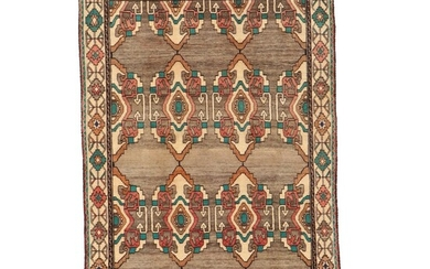 5'1 x 7'11 Hand-Knotted Persian Gabbeh Rug, 1970s