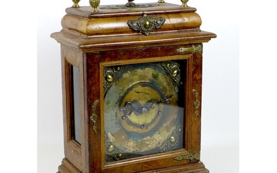 A 19th century bracket clock, a/f in poor condition, with de...