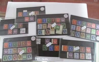 A G.B Wilding Collection on Stock Cards, mainly mint include...
