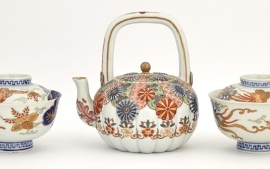 A Group of Japanese Imari and Imari Palette Porcelain Articles