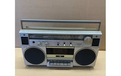 A JVC stereo radio cassette recorder and various other audio...