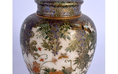 A LOVELY 19TH CENTURY JAPANESE MEIJI PERIOD SATSUMA TEA JAR ...