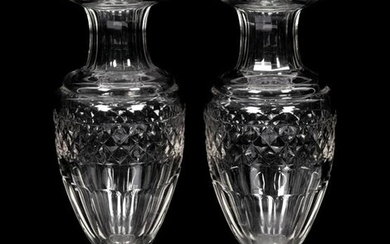 A Pair of English Cut Glass Vases