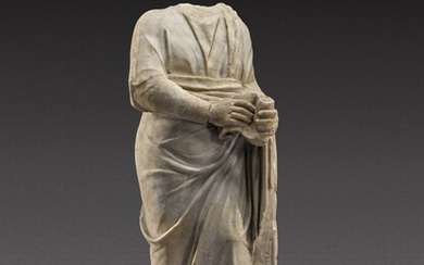 A Roman Marble Figure of a Philosopher or Man of Letters, circa 2nd Century A.D.