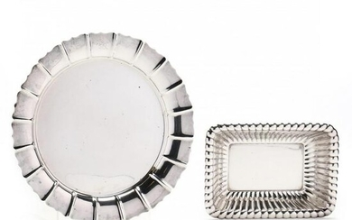 A Vintage Sterling Silver Tray and Serving Bowl