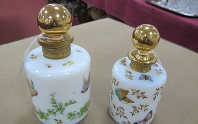 A XX Century R. Noirot French Glass Scent Bottle, with gilt ...