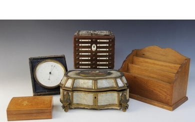 A collection of objects of virtue to include a 19th century ...