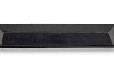 A rare shallow low rectangular black lacquer tray