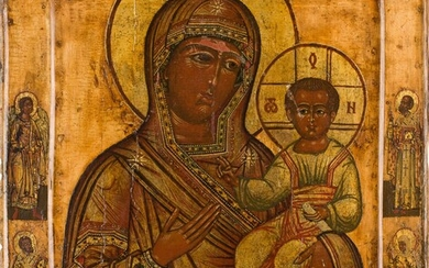 AN ICON SHOWING THE SMOLENSKAYA MOTHER OF GOD Russian, 17th...