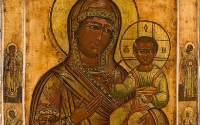 AN ICON SHOWING THE SMOLENSKAYA MOTHER OF GOD Russian