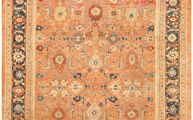 ANTIQUE PERSIAN ROOM-SIZE SULTANABAD CARPET. 13 ft 8 in x 10 ft 6 in (4.17 m x 3.2 m).