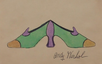 Andy Warhol, Attributed: Double Shoes