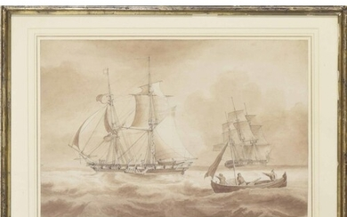 Attributed to John Christian Schetky (1778-1874) - 'Brig and...