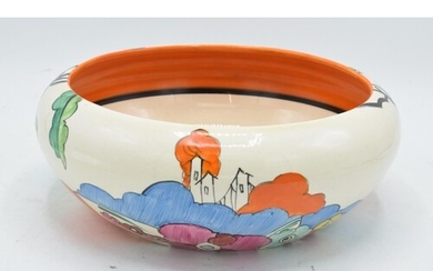 Bizarre by Clarice Cliff shape 55 circular bowl decorated wi...