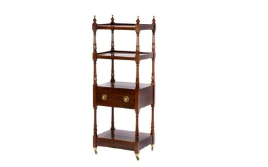 GEORGE III MAHOGANY FOUR-TIERED ETAGERE