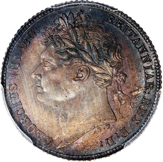 Great Britain, silver sixpence, 1825, (S-3814)