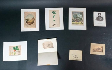 Lot of 19th Century Engravings and Drawings