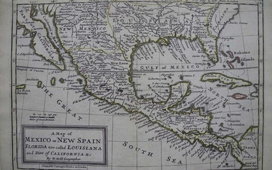 Map of Mexico Or New Spain Florida Now Called Louisiana