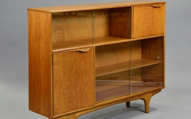 Mid Century Modern Bookcase with Drop Front - McIntosh