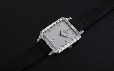 PATEK PHILIPPE, REF. 5007P, A PLATINUM DRESS WATCH WITH BAGUETTE-CUT DIAMONDS