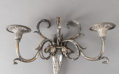 Pair of wall appliques in the style of Louis XVI, probably France, 20th century. (2).