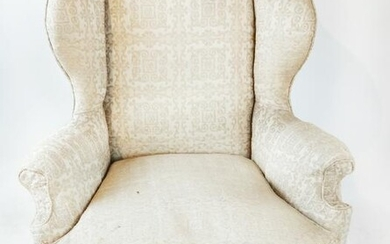 Queen Anne-Style Wing Chair