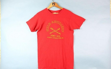 Red S Army Field Artillery Fort Sill OK Vintage T-Shirt