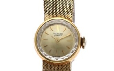 NOT SOLD. Richard: A lady's wristwatch of 18k gold. Mechanical movement with manual winding. 1960s....