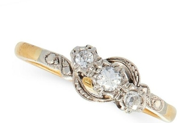 THREE DIAMOND DRESS RINGS in 18ct yellow gold and