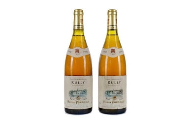 TWO BOTTLES OF PIERRE PONNELLE RULLY WHITE