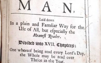 The whole duty of man. By Richard Allestree. 1706. Drawings. Christian life and faith. Pirced in the internet for 500£, 475$. Very Rare.