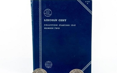 5 Eisnehower Dollar Coins and Lincoln Cent Book
