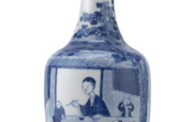 A CHINESE WHITE AND BLUE PORCELAIN VASE 20TH CENTURY.